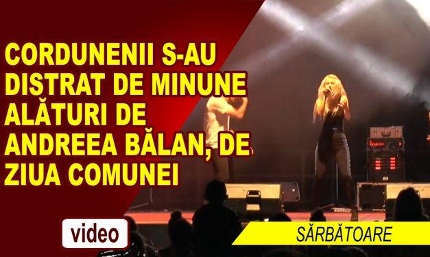 Concertul Andreea Bălan și focul de artificii de ziua Comunei Cordun