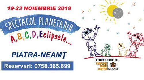 Planetariu mobil- spectacol despre eclipse în Piatra-Neamț
