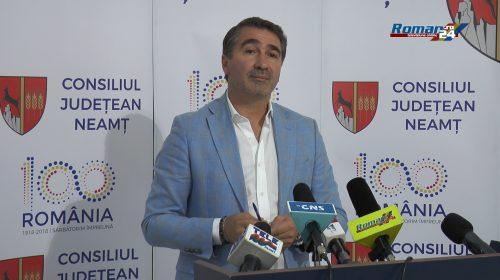 (Video) Conferință de presă susținuta de Președintele Consiliului Județean Neamț, Ionel Arsene