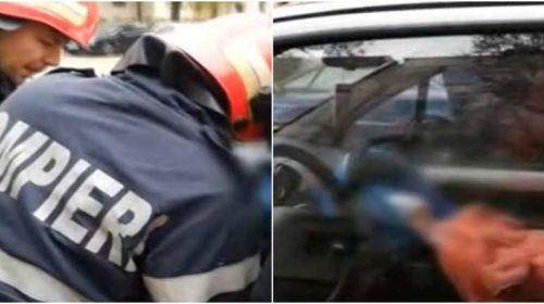 Acum, misiune de salvare a unui copil rămas blocat în mașină
