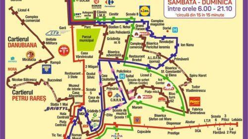 Devine operațional transportul public în comun pe traseul 1 (Colegiul Tehnic Danubiana – Roman Value Centre – Dedeman)