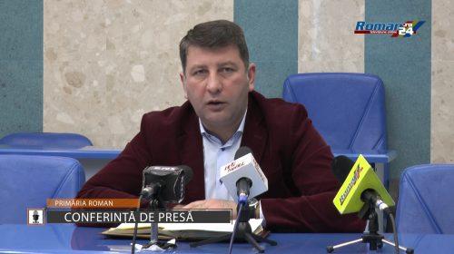 (Video) Conferință de presă primarul municipiului Roman Lucian Micu