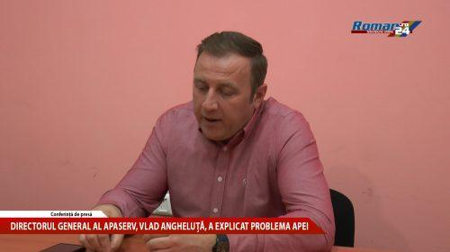 (Video) Directorul general al ApaServ, Vlad Angheluță, a explicat problema apei la Roman