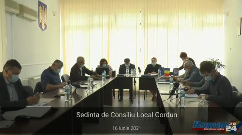 (Video) Ședință de Consiliu Local Comuna Cordun – 16 iunie 2021